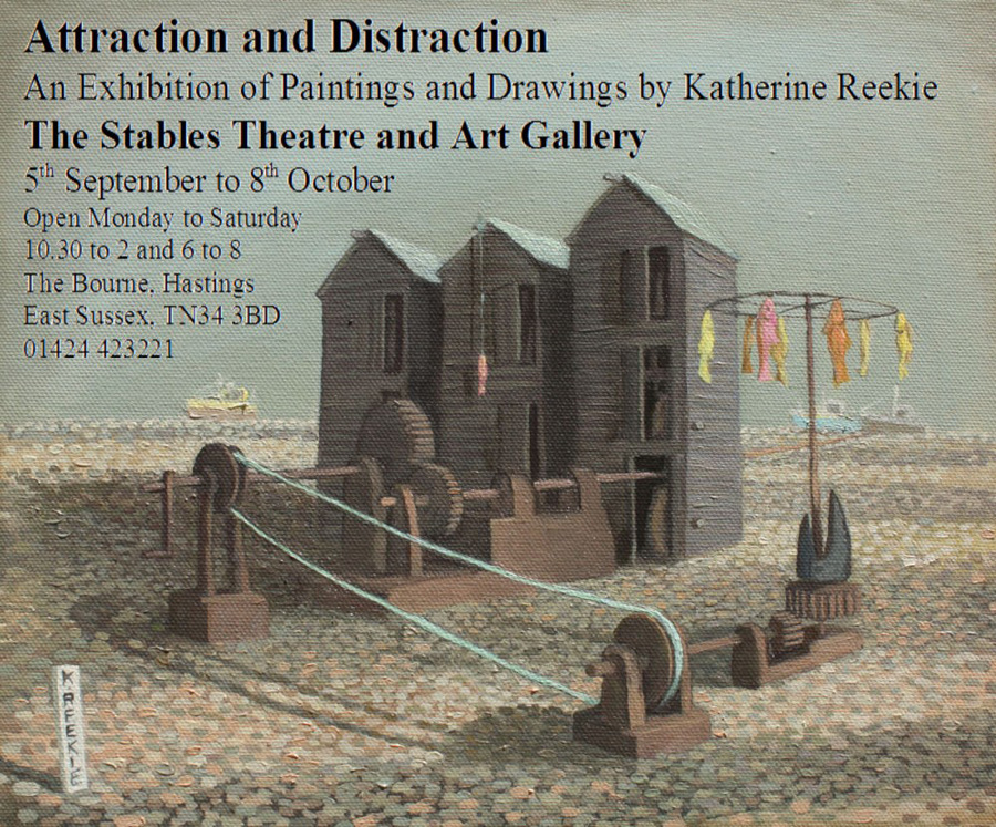 Katherine Reekie Exhibition at the Stables Theatre Hastings from 5th Sept.